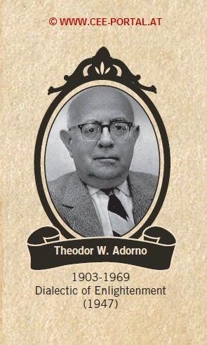 Theodor W. Adorno 1903-1969 Dialectic of Enlightenment (1947)