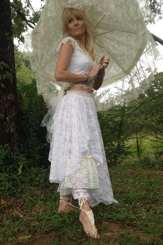 Boho Wedding Dress Shabby Chic Wedding by DenaDanielleDesigns ...