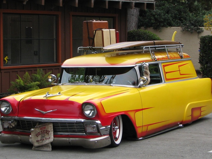 1956 Chevy Delivery surf style... dig it...Re-pin..Brought to you by #CarInsuranceEugene, and #HouseofInsurance