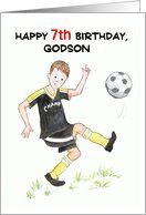 7th Birthday Card for a Godson - Soccer Card by Greeting Card Universe. $3.00. 5 x 7 inch premium quality folded paper greeting card. Birthday cards & photo Birthday cards from Greeting Card Universe will bring a smile to your loved ones' face. Send a paper card to your friends and family this year. Look no further than Greeting Card Universe for your birthday card needs. This paper card includes the following themes: birthday, age-specific, and 7. Greeting Card Univ...