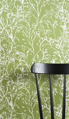 Ferm Living Wild Flower Green wallpaper