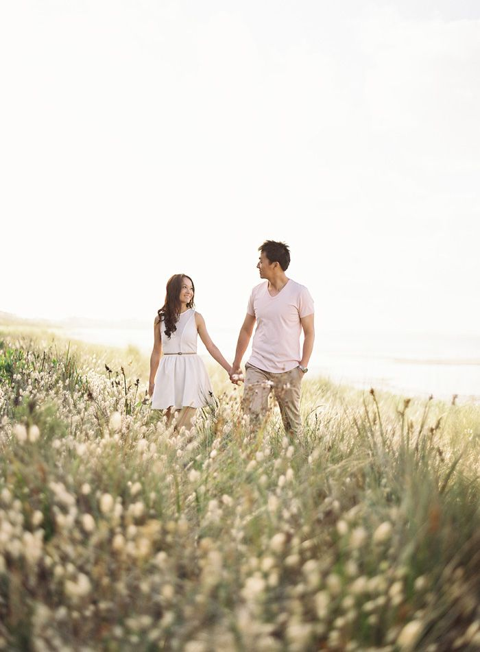 #engagement #photography in a field of wildflowers
