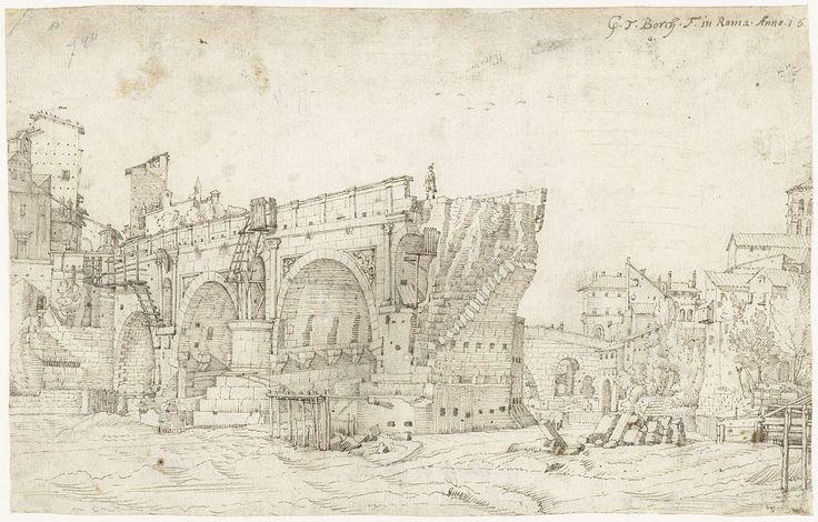 Gerard ter Borch (I) | Ponte Rotto over de Tiber, Rome, Gerard ter Borch (I), 1609 |