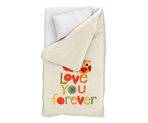 Trapuntino singolo in cotone Love You Forever - 170x270 cm
