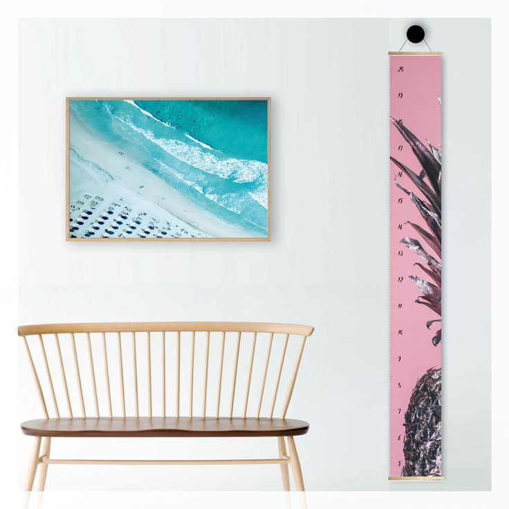 pink pineapple height growth chart,   scandi, modern, photography, scandinavian, beach, boho, canvas, wall decor, home decor, interior styling, home styling, kids bedroom, kids room, boho home
