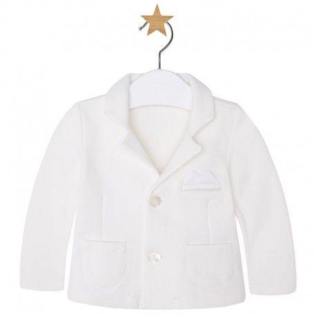 Mayoral fehér baby zakó. Mayoral white baby jacket. #ckf #coolkids #kidsclothes #gyerekruha #mayoral #zakó #suit #jacket #fehér #white