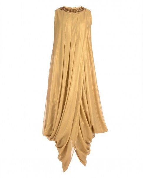 Golden dhoti style dress
