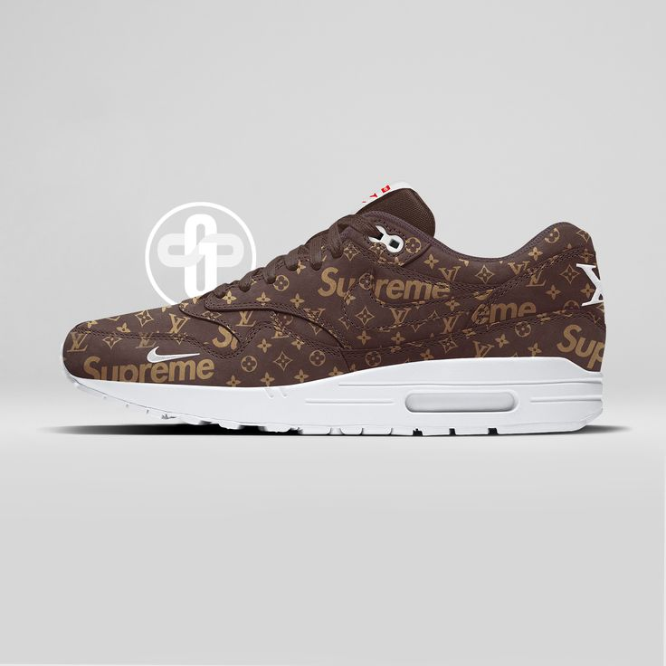 Louis Vuitton x Supreme x Nike Air Max 1 Dark Chocolate