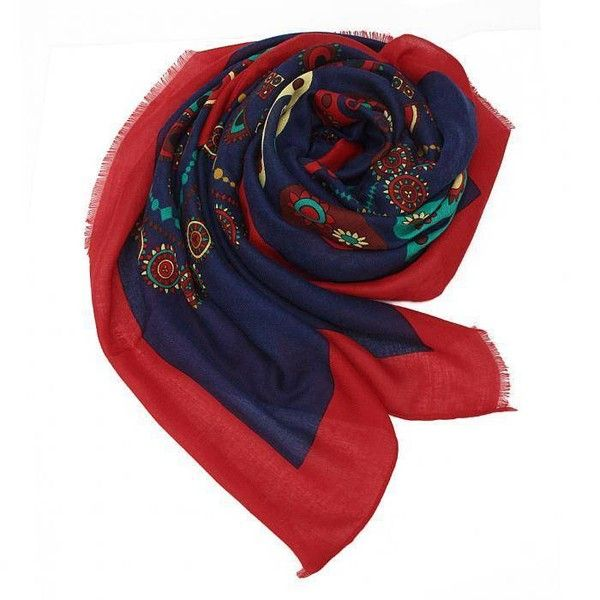 Yoins Yoins Paisley Print Wrap Scarf (23 BAM) ❤ liked on Polyvore featuring accessories, scarves, black, scarves & shawls, paisley shawl, shawl scarves, wrap shawl, paisley scarves and wrap scarves