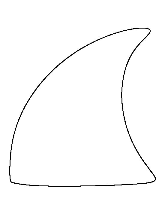 Shark fin pattern. Use the printable outline for crafts, creating stencils, scrapbooking, and more. Free PDF template to download and print at http://patternuniverse.com/download/shark-fin-pattern/