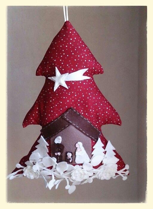 Alberello di Natale in stoffa e panno lenci 100 handmade!