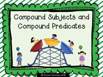17 Best images about Compound Subject & Predicate on Pinterest ...