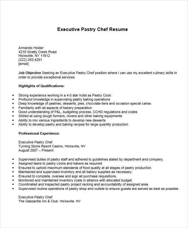 Oltre 25 fantastiche idee su Free resume samples su Pinterest - sample resume for pastry chef