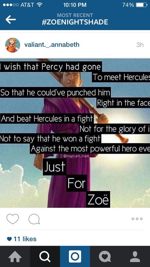 Percy Jackson, Zoe and Hercules