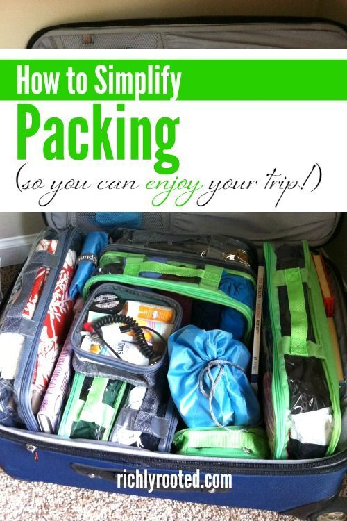 Organized travel begins before you leave home! Here are simple packing tips and suitcase organization to keep you sane on your vacation or road trip!