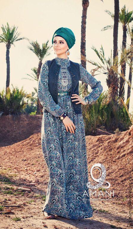 Платье Манифа - серый, пейсли, мусульманская одежда, мусульманские платья, длинное платье, хиджаб