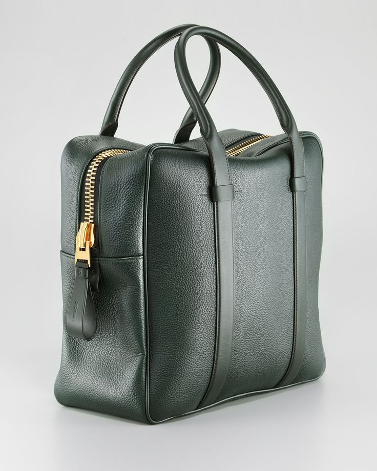 Tom Ford Buckley Square Briefcase, Green