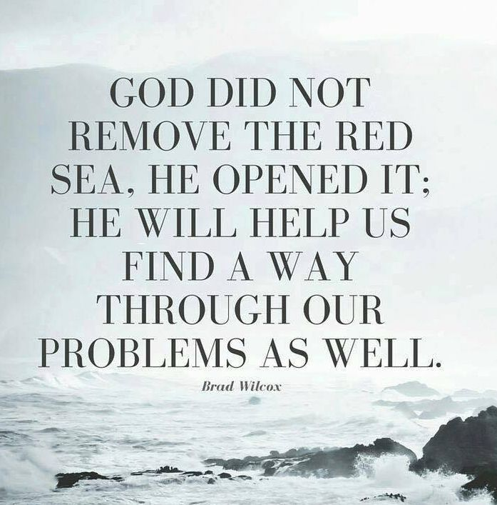 #God is a way maker - #Red Sea #problems
