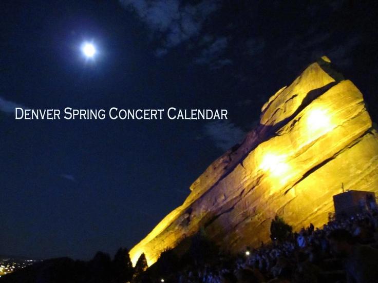Denver Spring Concert Calendar