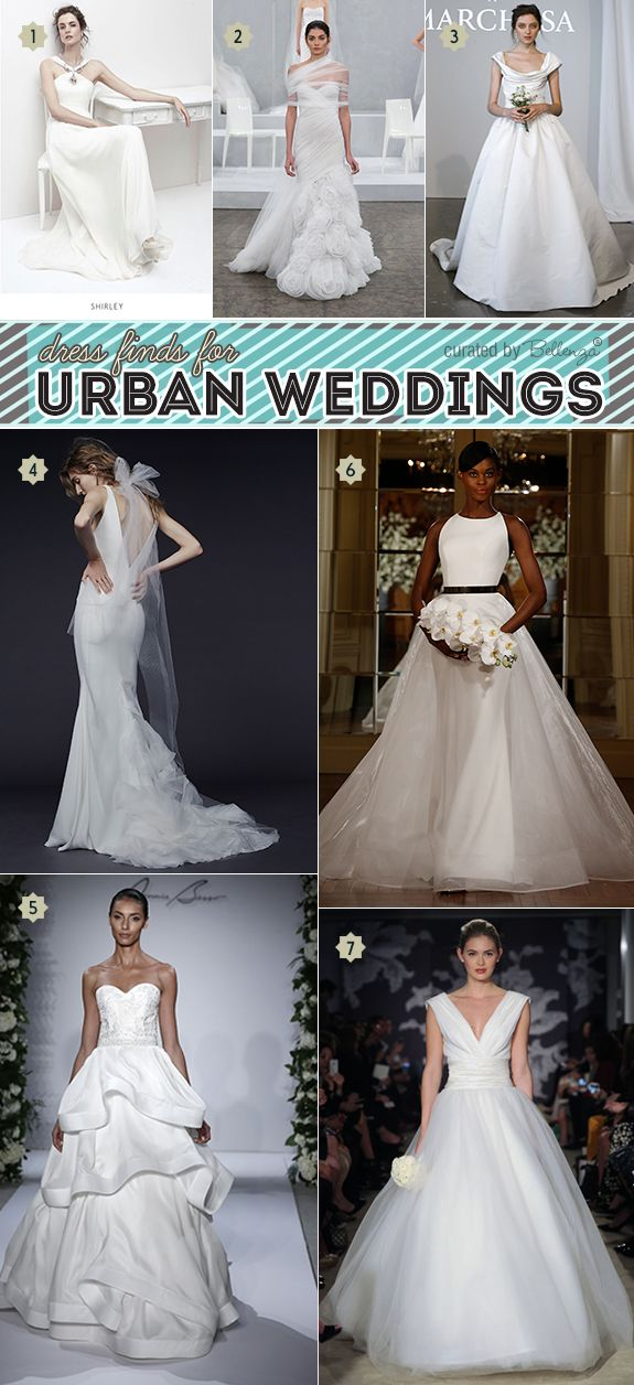 Modern Wedding Gowns For An Urban Style