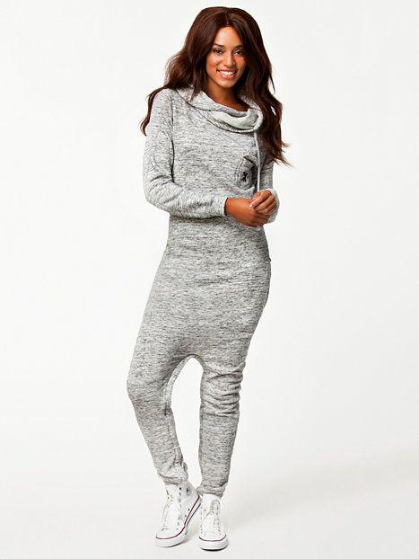 twisty jumpsuit onepiece gris m lang combinaisons. Black Bedroom Furniture Sets. Home Design Ideas