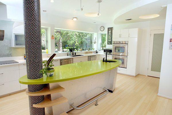 Дизайн кухонного острова в интерьре кухни