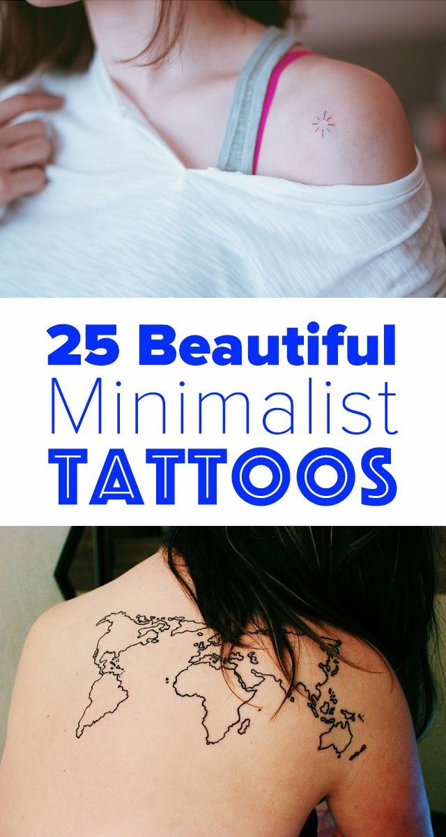 These 25 elegant minimalist tattoos are perfect for people new to tattoos, fans of delicate design, or those who need to cover their ink for work or school.