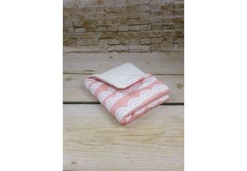 Baby Quilt Blanket Fancy Lace - 100% ORGANIC COTTON