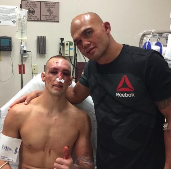 This is what I love about MMA! Going after each other with everything they have, but in the end RESPECT!!! Lawler/MacDonald UFC 189