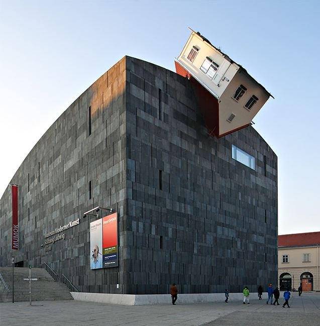House Attack at Museum Moderner Kunst in Viena, Austria