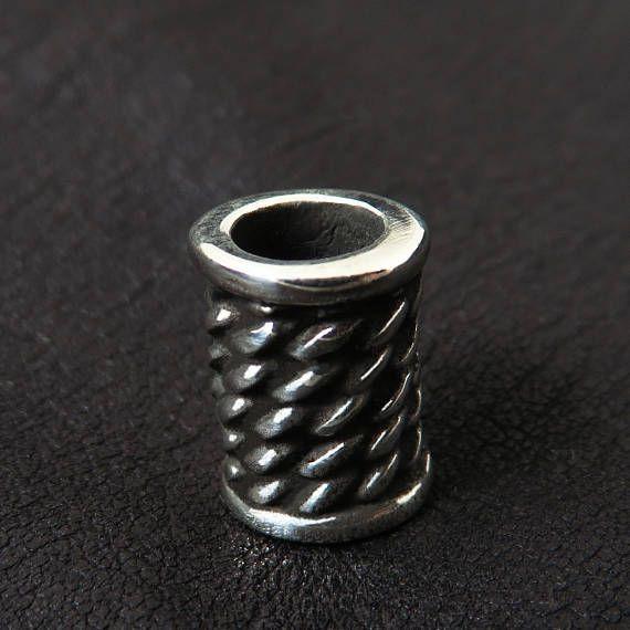 Silver beard bead 6mm