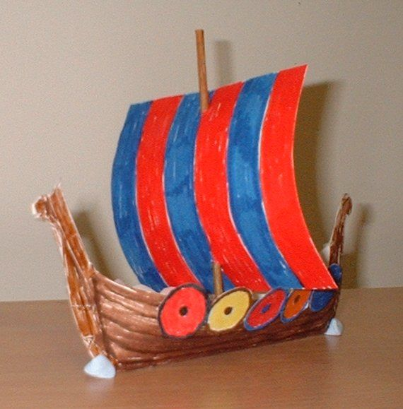 template for building a Viking longship.