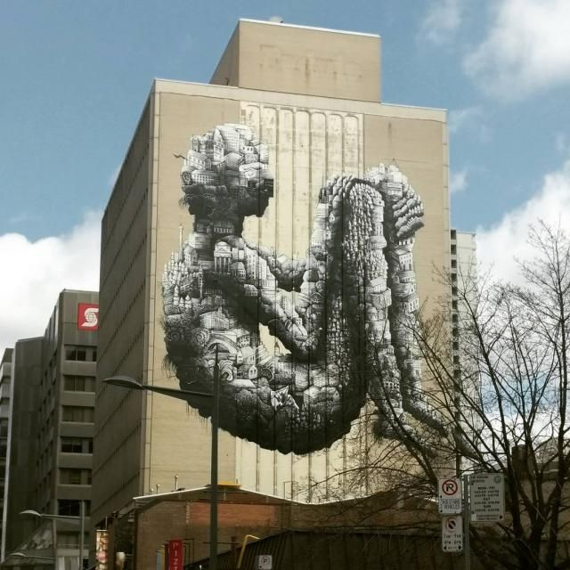 April 4, 2017: Yonge and St. Clair Mural, image by to_urbanist via Instagram #Phlegm #Toronto #urban #city #mural #artinstallation #art