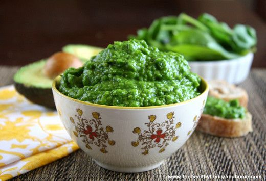 Raw Spinach and Avocado Dip