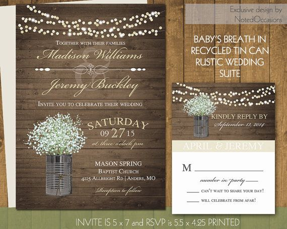 41 best wedding invites images on pinterest rustic wedding