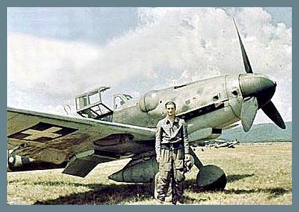 Hungarian Air Force Messerschmitt Bf-109G of ace Laszlo Daniel.