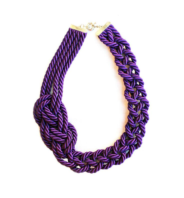 1000 images about collane di corda on pinterest cas crochet necklace tutorial and world - Collane di design ...