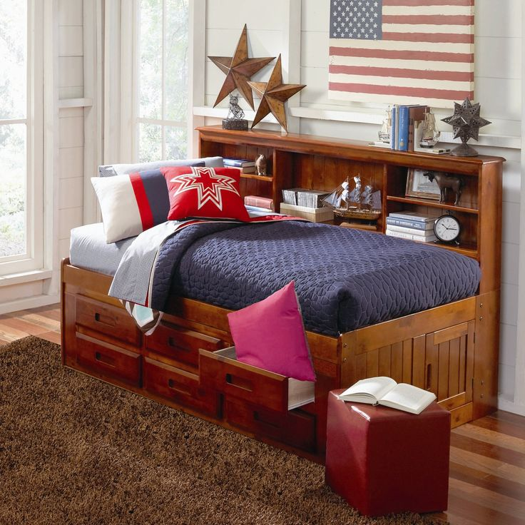 Bookcase Daybed with Drawers & Reviews | Wayfair