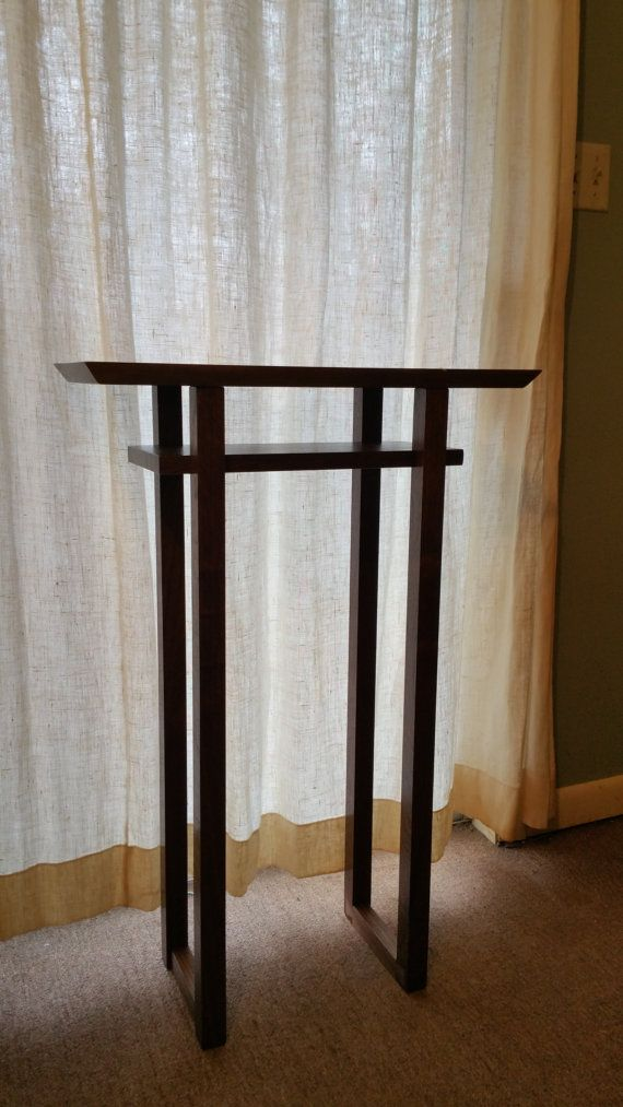 Narrow modern wood entry table live edge tall by for Tall slim side table