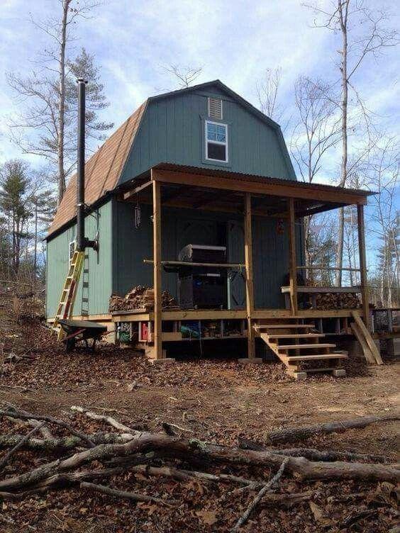 Best 9 Best Gambrel Roof Tiny House Images On Pinterest Tiny 400 x 300