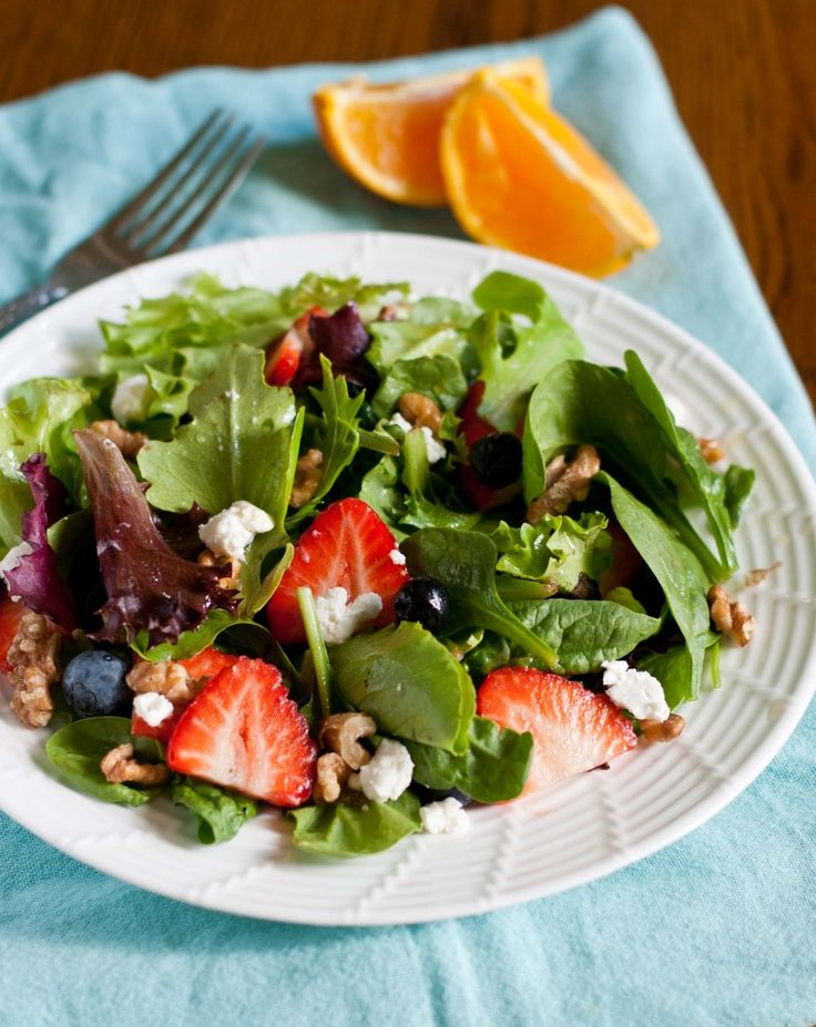 Summer Berry Salad with Roasted Walnuts, Goat Cheese, and ...