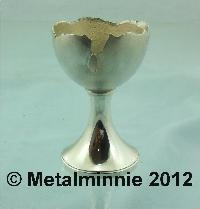 MODERN SILVER NOVELTY EGG CUP THEO FENNELL