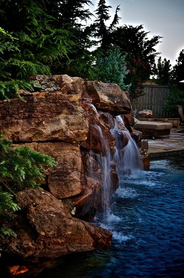 Secluded Pool and Spa: Rose Creek Estate by Caviness Landscape Design