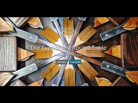 amazing brilliantly designed Expanding Round Table from Reclaimed Barn Wood I've never seen anything quite like this table!!