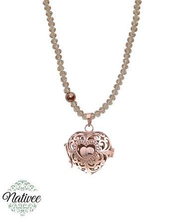 Clochette bola de grossesse or rose Isea