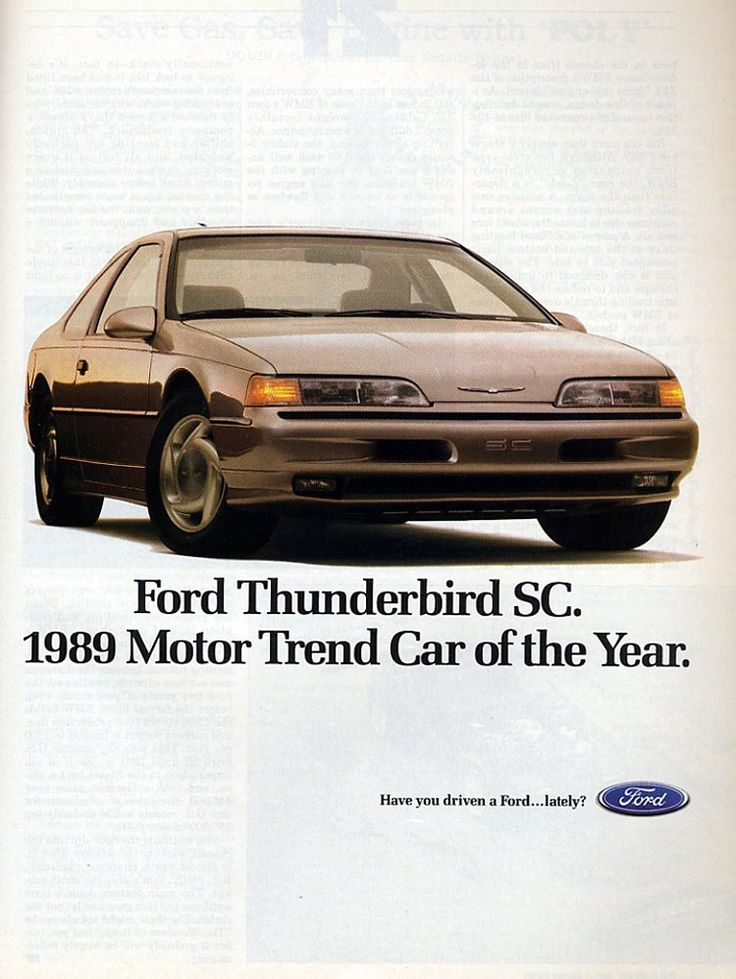1989 Ford Thunderbird SC Ad