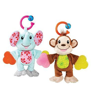 Munchkin Teether Babies x1 10158772 24 Advantage card points. Munchkin Teether Babies are a toy, rattle and plush in one! Available in elephant or monkey designs, sold individually. Each Teether Baby comes with a handy link for attachin http://www.MightGet.com/april-2017-1/munchkin-teether-babies-x1-10158772.asp