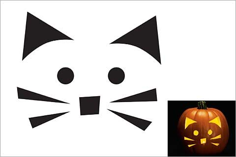 Halloween Pumpkin Stencils, Pumpkin Carving Patterns | Pictures of Cats - Band of Cats