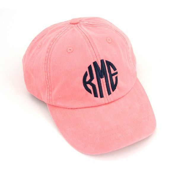 monogrammed baseball caps etsy hat monogram cap coral simply southern monograms hats
