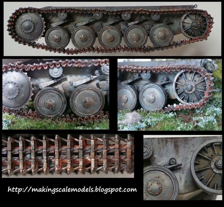 Scale models and dioramas: How to paint tanks tracks